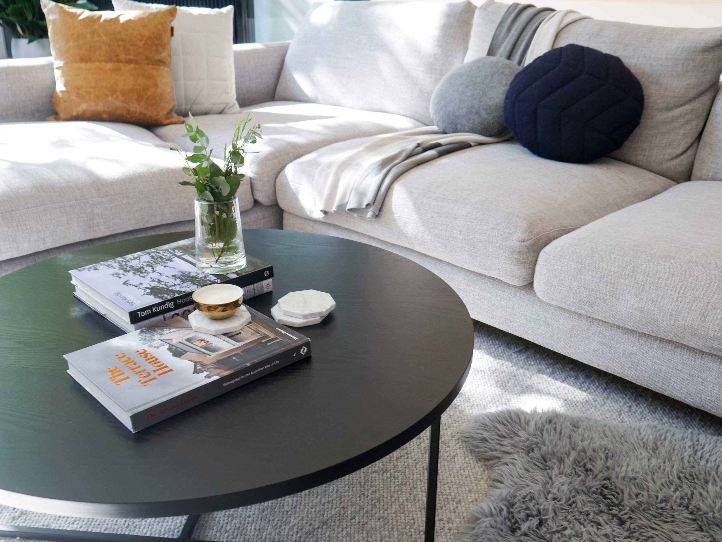 Turner Coffee Table  - Black Oak - Styling and Photography Dot + Pop