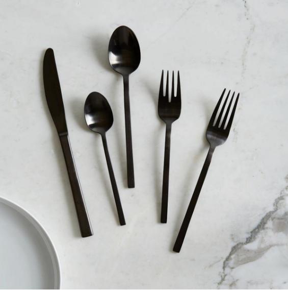 Black Cutlery -  West Elm $49.95
