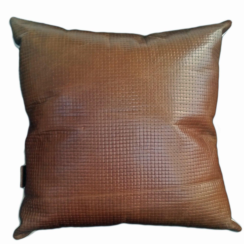 Tan Weave Cushion -  Hide & Co