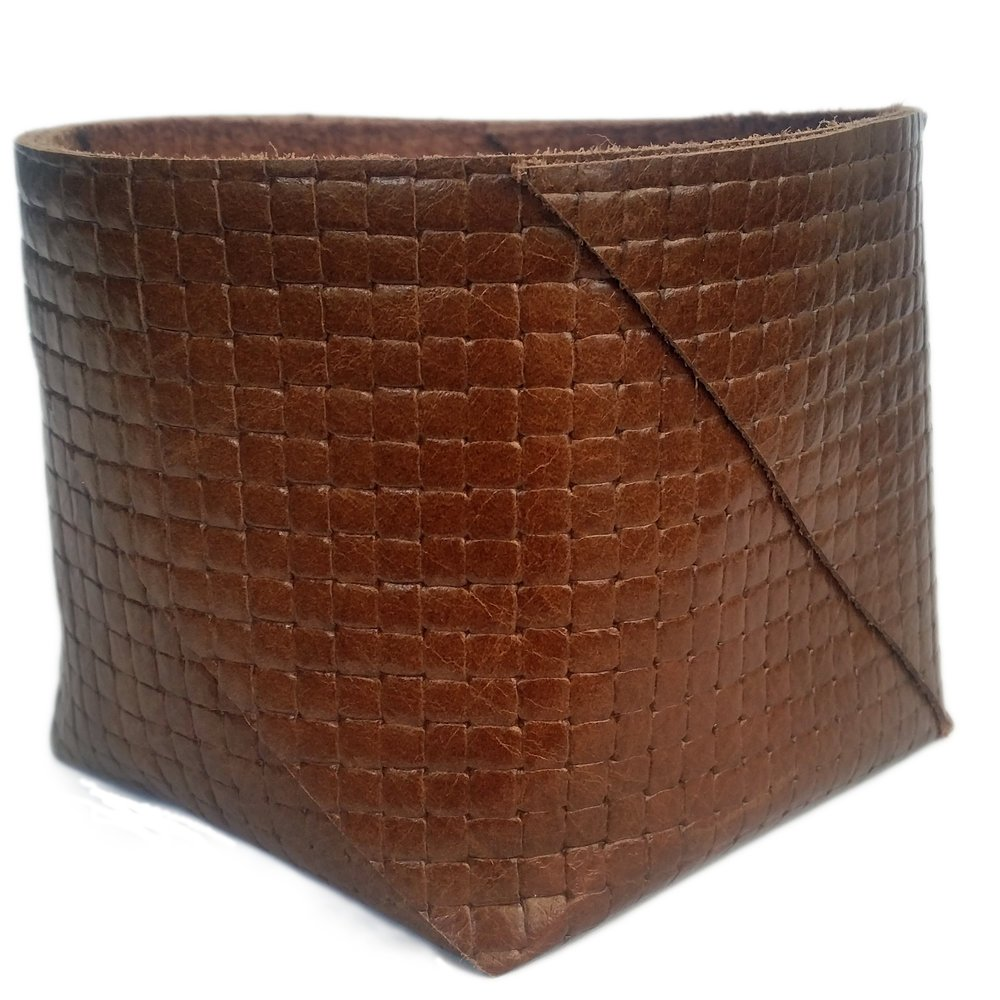 Classic Leather Bag Tan Weave -  Hide & Co