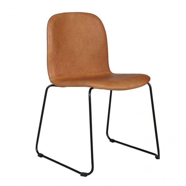 Seth Leather Dining Chair -  ClickOn Furniture