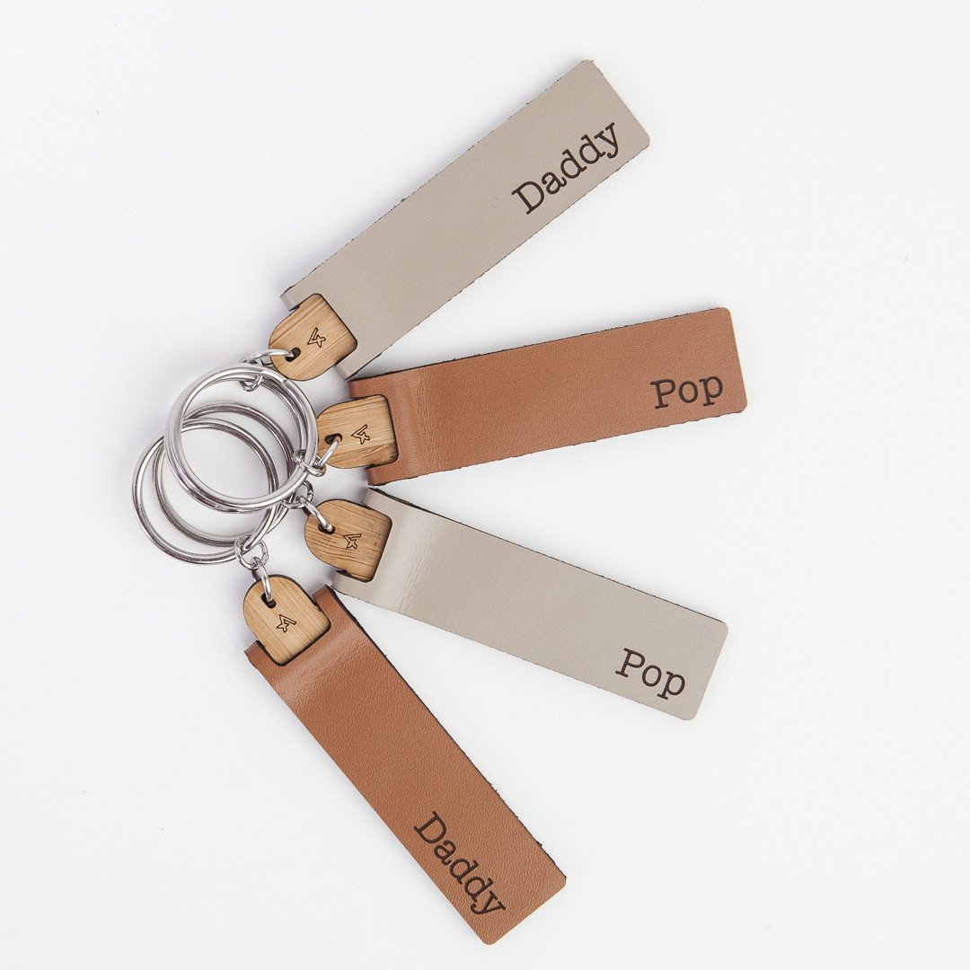 Personalised leather key tag - Arlo & Co