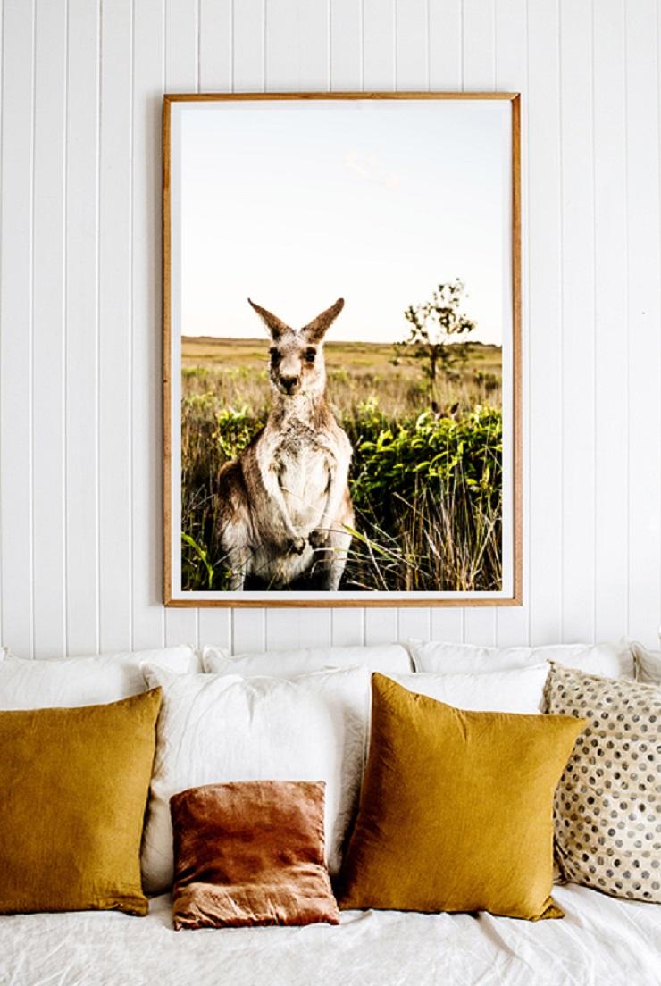 Kara Rosenlund - Kangaroo Close-Up Photographic Print