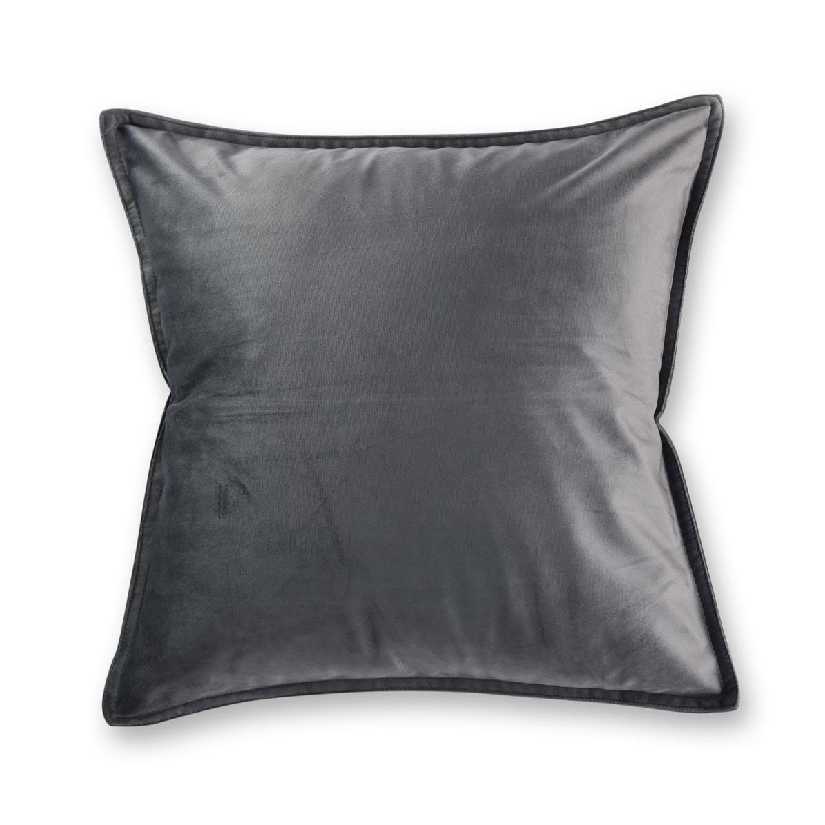 Velvet Cushion Charcoal