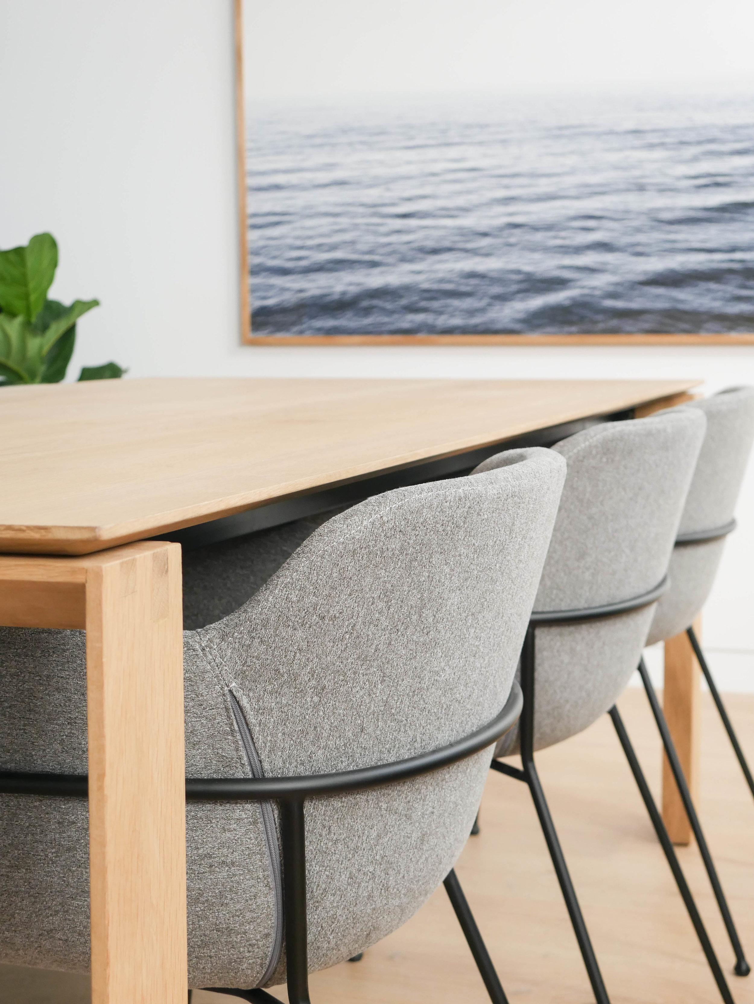 Product: Huxley  Linea Dining Table  | Etta  Arm Chairs