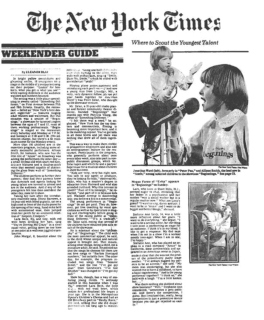 BEGINNINGS SHOWCASE featured in Cover STORY, NY TIMES ARTS & LEISURE SECTION 1981