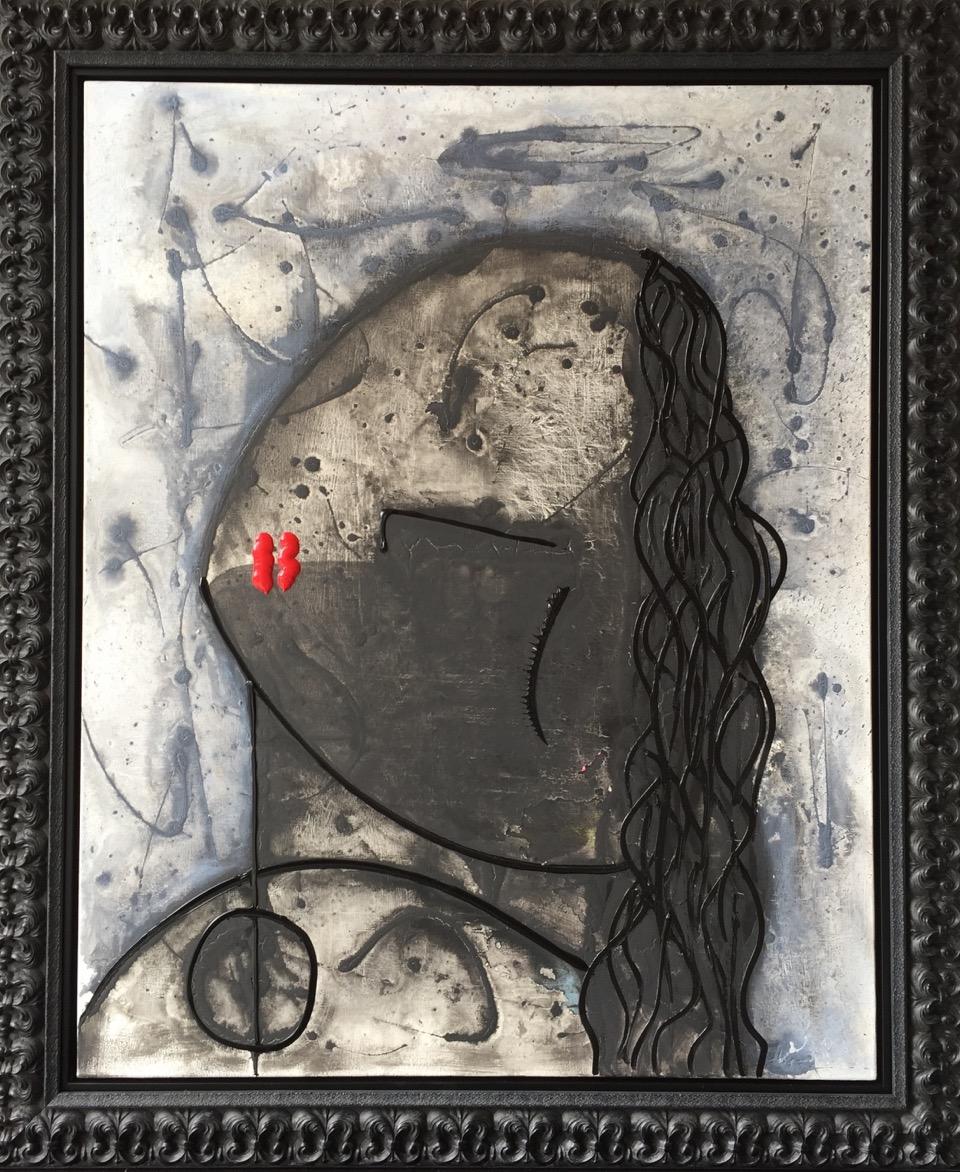 Noir Series #3 48 x 60 Acrylic on Canvas