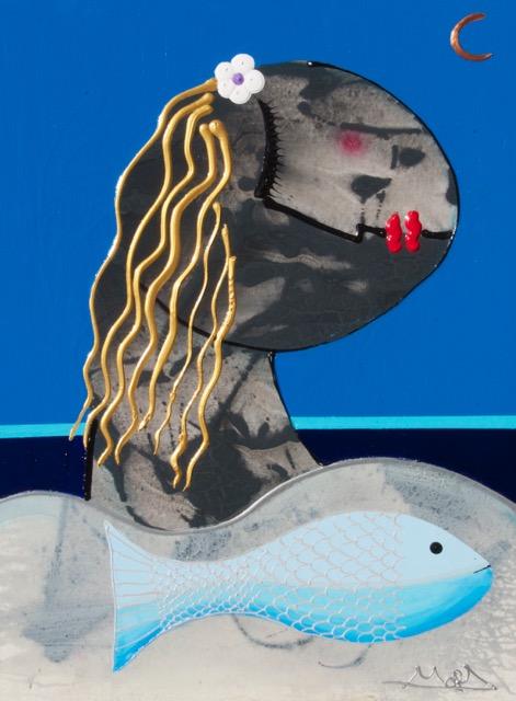 """""""Pescado Azul"""" 30 x 40 Acrylic on Canvas"""