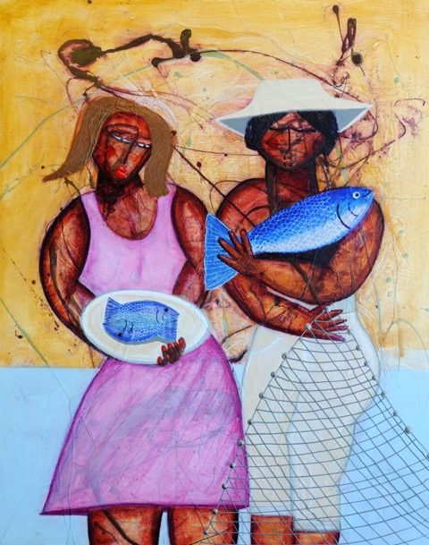 """ Our Daily Bread ""  48 x 60   Acrylic on canvas   SOLD"