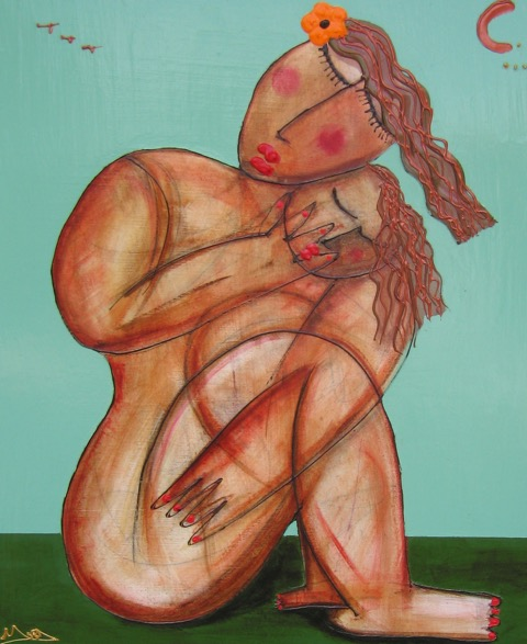 "'Spring Madonna"" 24 X30   Acrylic on Canvas  SOLD"