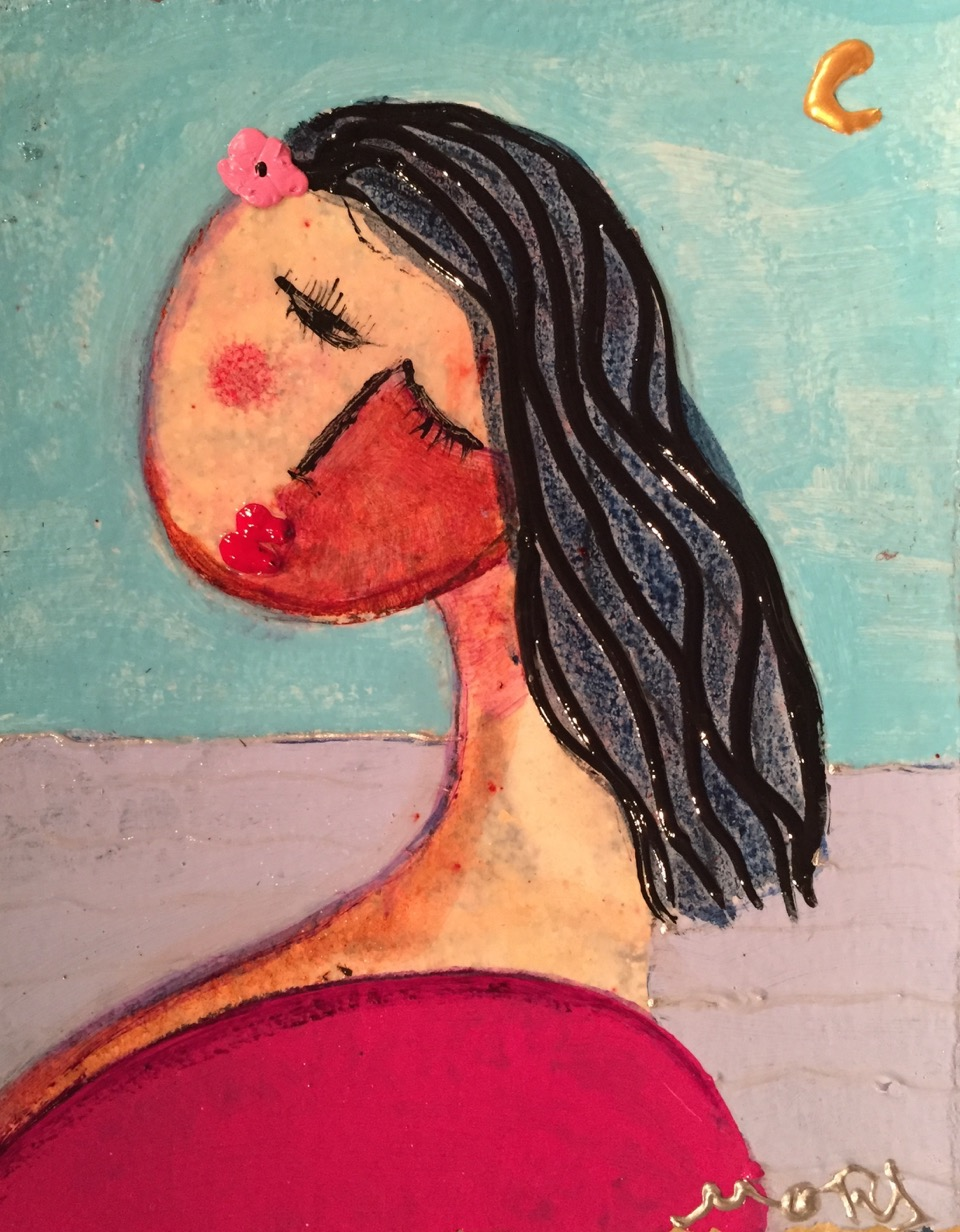 """""""Untitled"""" 8 x 10Acrylic , Dry Pigments and Varnish  SOLD"""
