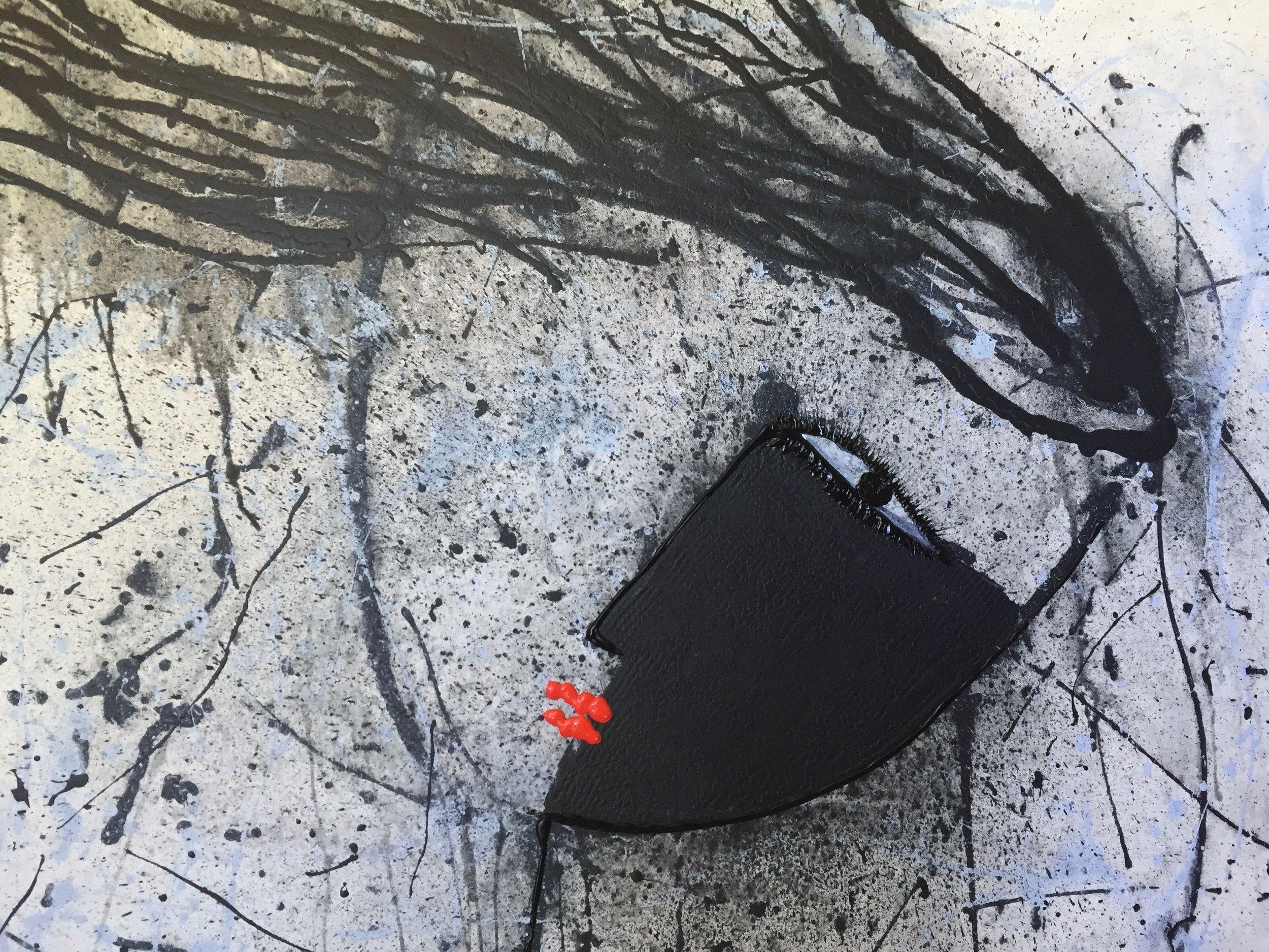 """Noir  Series  (SERENA)    60"""" X 48'""""  Acrylic on Canvas    AVAILABLE"""