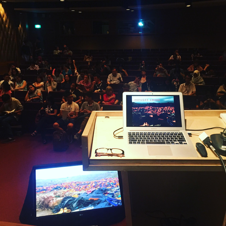 Presentation on refugee crisis at SWF 2016, Singapore