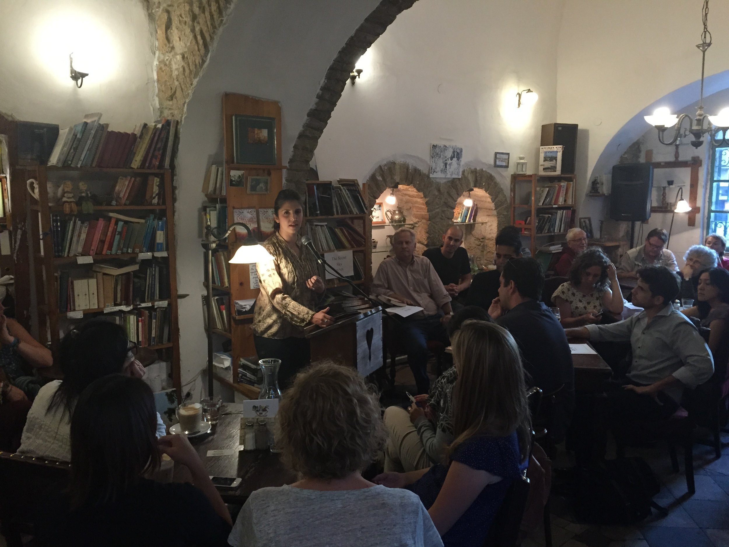 Tmol Shilshom Book Event, Jerusalem