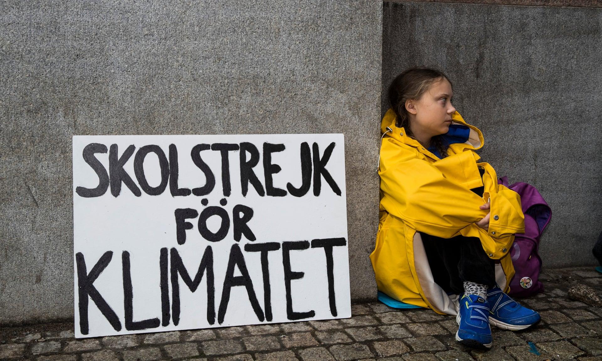 """School strike for climate"" Photo:   Michael Campanella /The Guardian"
