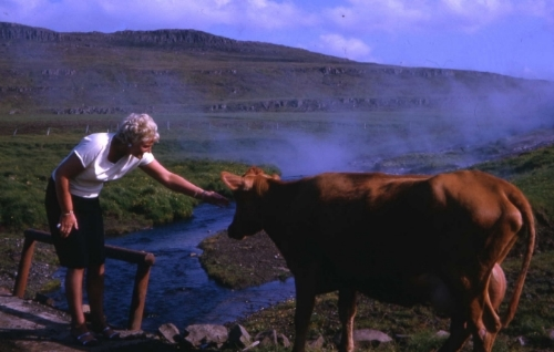 My grandmother Svava in Iceland. She loved nature and the great outdoors.