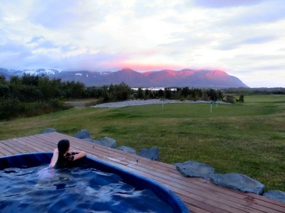 The hot tub at Hotel Hellnar, on the way to the Snaefellsnes peninsula