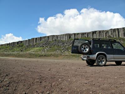 Wall of basalt columns at Gerðuberg