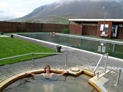 Mineral pool at Lýsuhólslaug