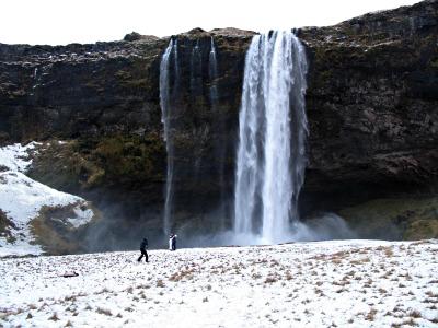 Seljalandsfoss waterfall, a great backdrop for a newly-wed photoshoot!