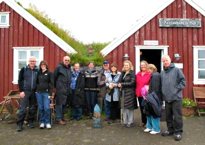 The 2013 Tour Group, just before doing the beautiful coastal walk from Arnastapi to Hellnar.