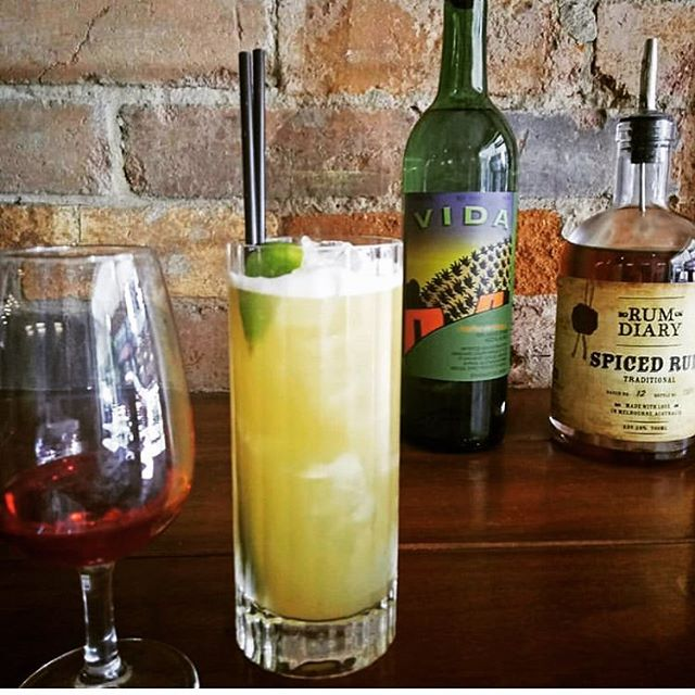 @mustmash repost - @delmagueymezcal & @rumdiaryspiced in this tropical smoky tiki mix