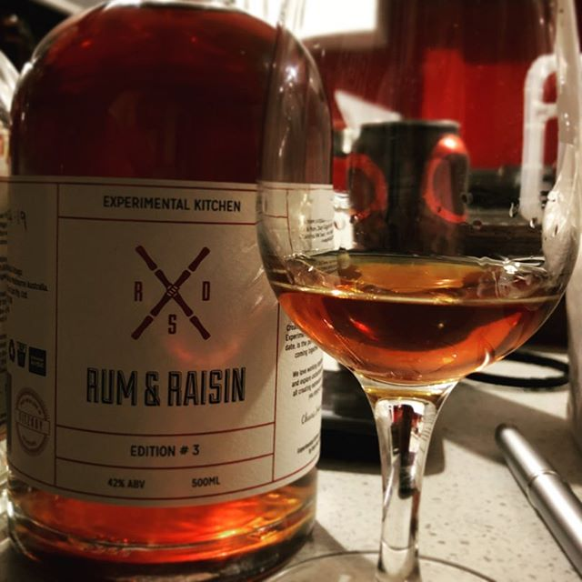 Very limited release being shown for the first time at 'do you like pina coladas?' At @jacobystikibar Friday night and at @sugarcanesunday Sunday in Sydney - Edition #3 of Rum Diary Spiced Experimental Kitchen series - Rum & Raisin