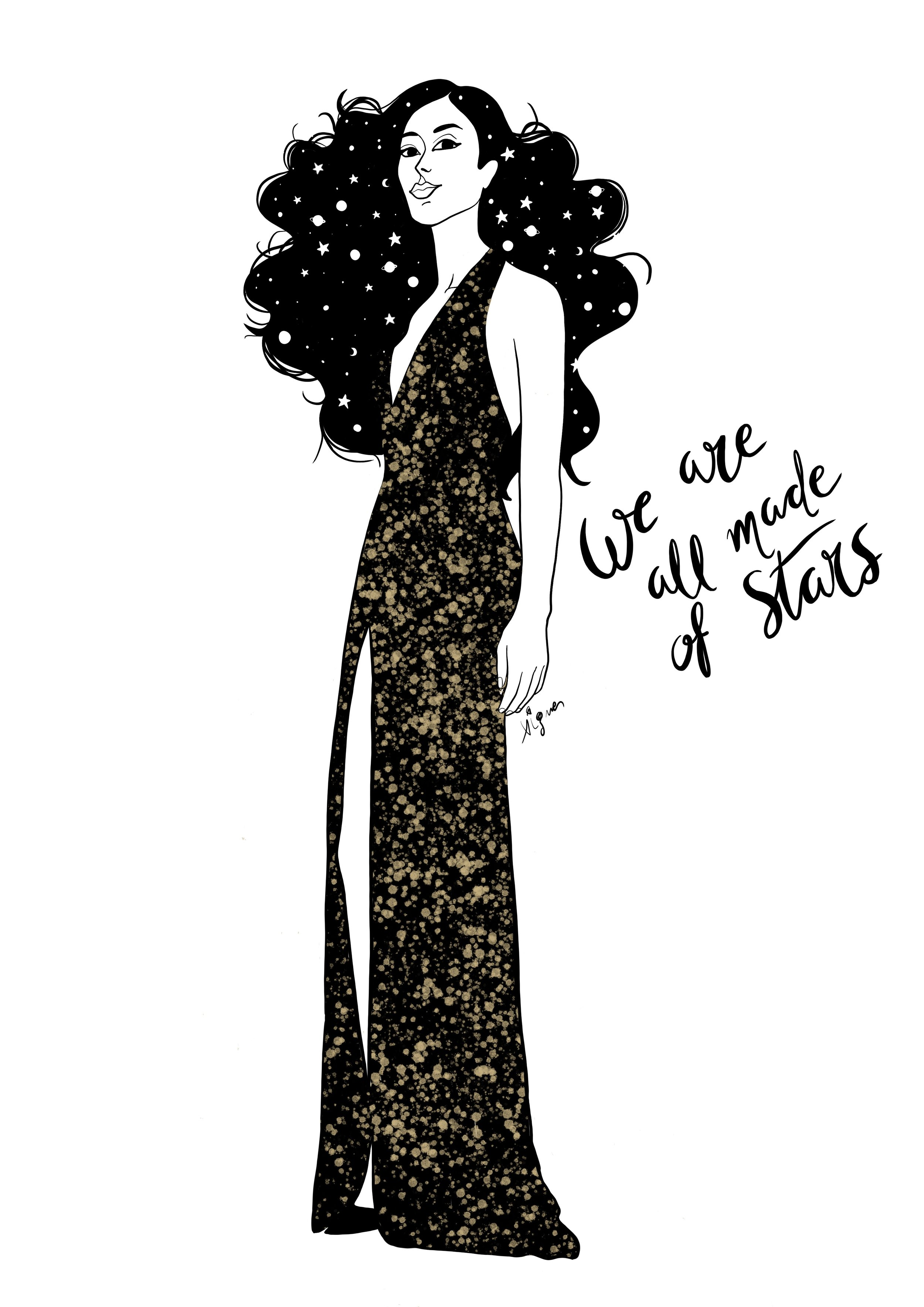 stars fashion illustration