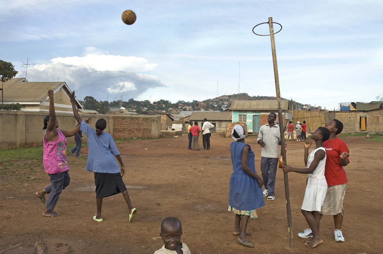 Playing at the Youth Community Center, Kampala, Uganda.