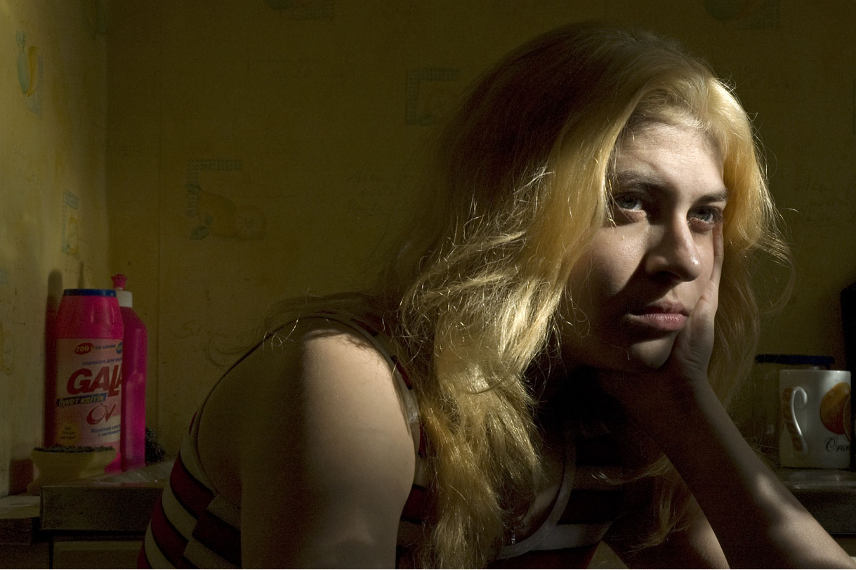 Anna at a shelter for women who escaped from sexual slavery, Odessa, Ukraine.