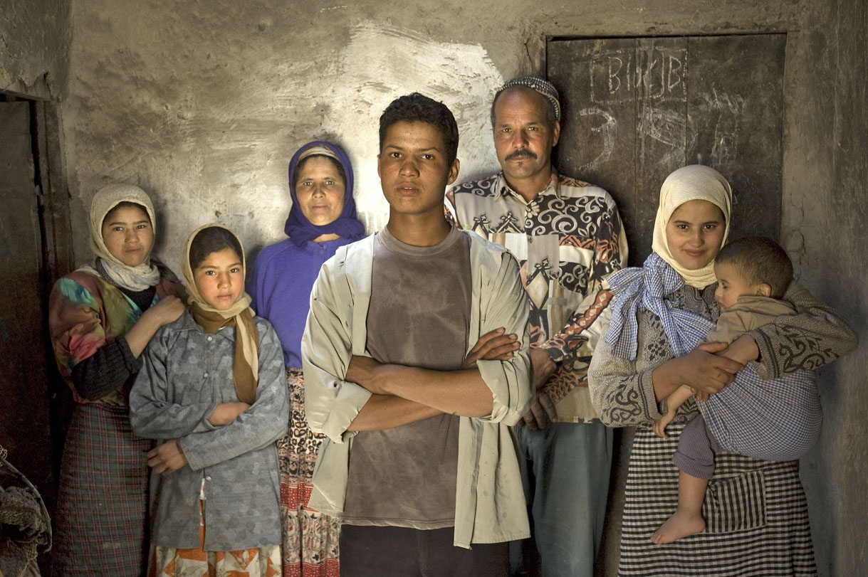 El Borg, Morocco. Mohammed and family.