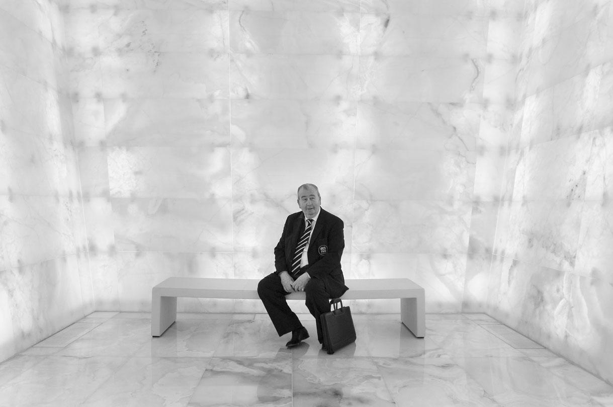 Julio Grondona at the FIFA headquarters in Zurich, 2008.