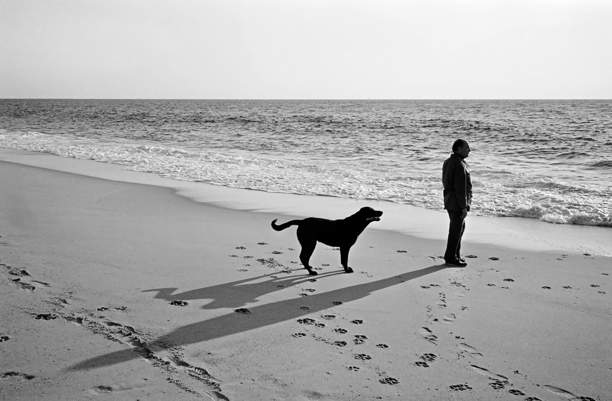 With his dog Nils at Soustons, France