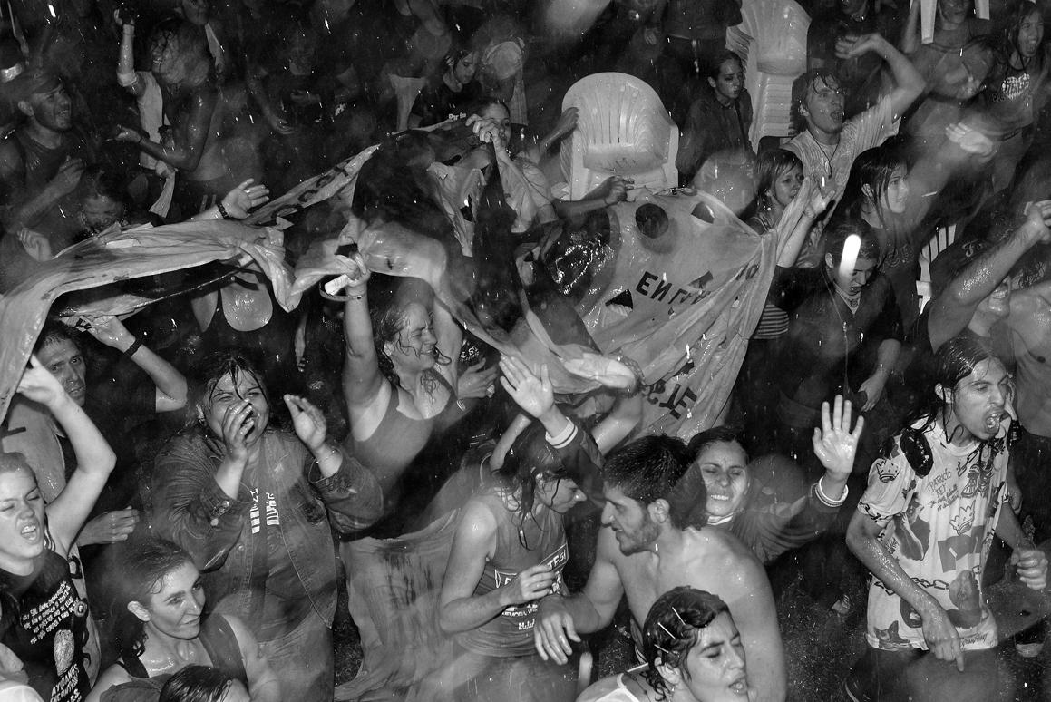 Rock concert under the rain, Buenos Aires, 2008