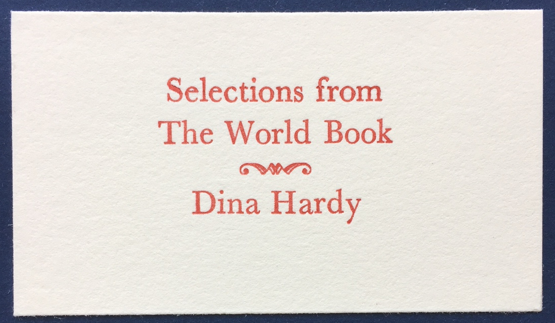 dina hardy Selections from the World Book chapbook cover.JPG