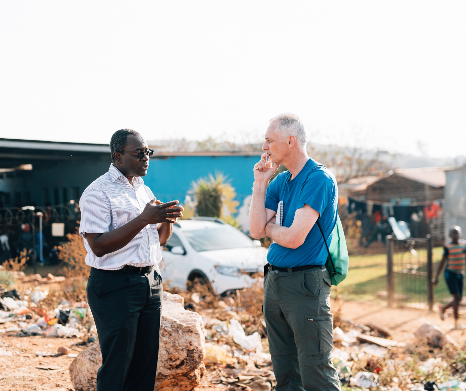 Rev. David Nixon - I spent 13 years in Zambia and in the second year, I founded and then continued developing Chodort Training Centre.  It was quite unbelievable all the obstacles and difficulties that we encountered all along the way, all of which convinced me that we were continually involved in a spiritual battle. My experience has taught me that our partners are facing this opposition all the time and I am impressed at how they keep going.  I am also impressed at how they seek to draw out the knowledge and skills in the people they are working with and build up their knowledge and skills to that people's confidence is strengthened and they become strong, resilient and better able to improve their own lives.  My highlights have been visiting our partners in Ghana & South Africa.  It was absolutely wonderful to meet enthusiastic and energetic people like Bernard Botwe; the administrator in Wenchi Hospital and Joseph Donkoh who has such a passion for extending the Kingdom of God through evangelism combined with practical development.  In South Africa I was so inspired by our partners; Thokozani Poswa from Phakamisa, Graham Philpott, David Ntseng, Nomusa Sokhela from Church Land Programme and the staff and volunteers in OSWW.  I often refer to these people as 'Giants', not in size but giant faith, passion, enthusiasm, love and compassion for their brothers and sisters.  They inspire me with their hearts for service.WDR Convenor since 2013