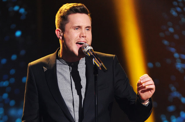 Trent Harmon singing on Season 15 of American Idol