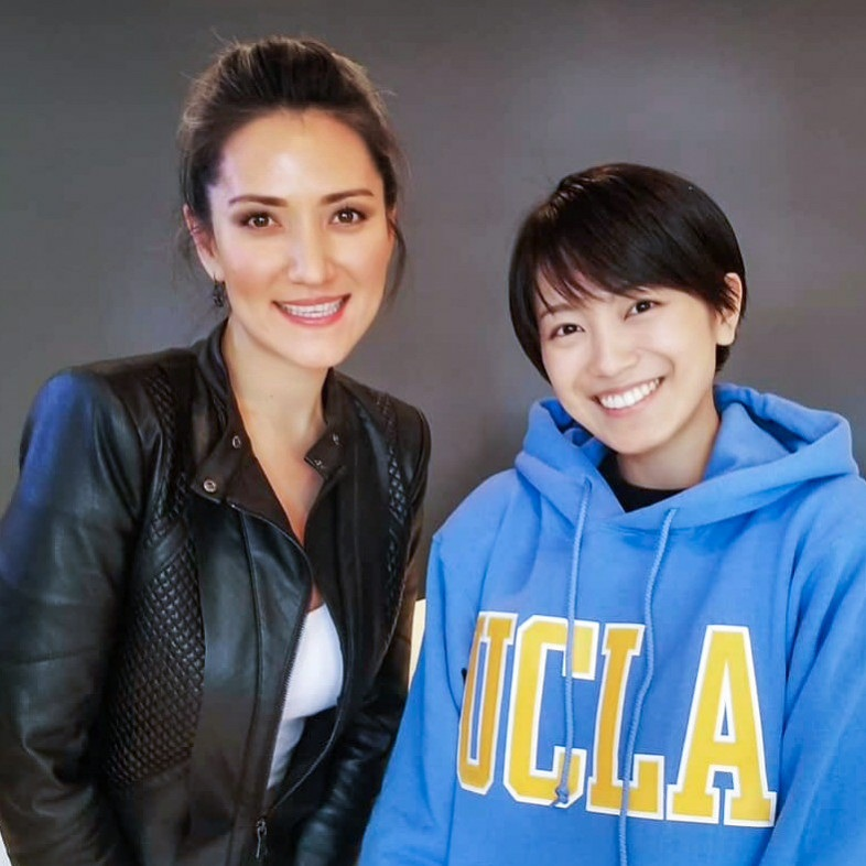 Sony Japan Artist Miwa with LA celebrity vocal coach Roxie Francis at I Heart My Voice