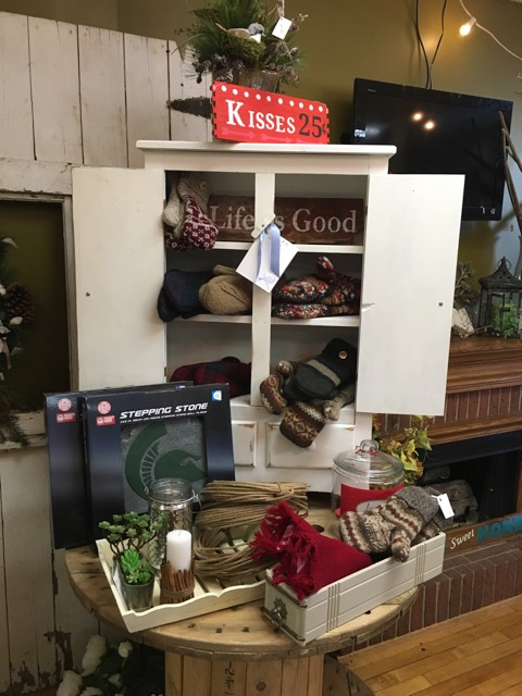 Catching shopper eyes is a perennial challenge for gift retailers. Resetting your retail gift shop displays helps create the new and fresh that your shopper craves. (Photo - Twiggies in downtown DeWitt, Michigan)