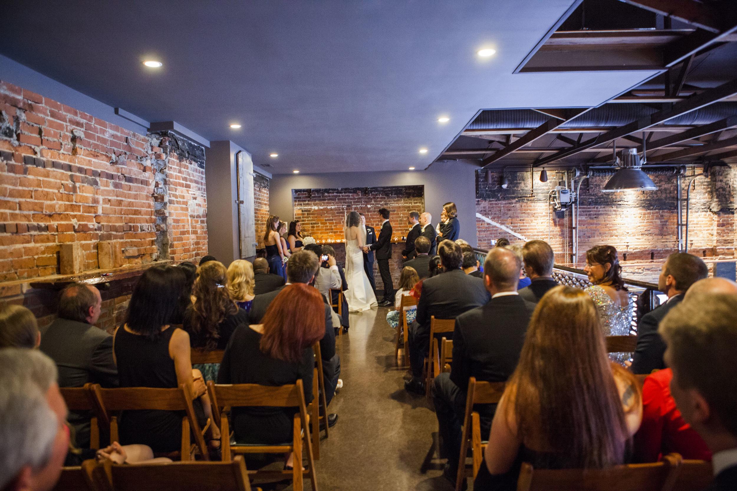 Host your wedding ceremony on the mezzanine