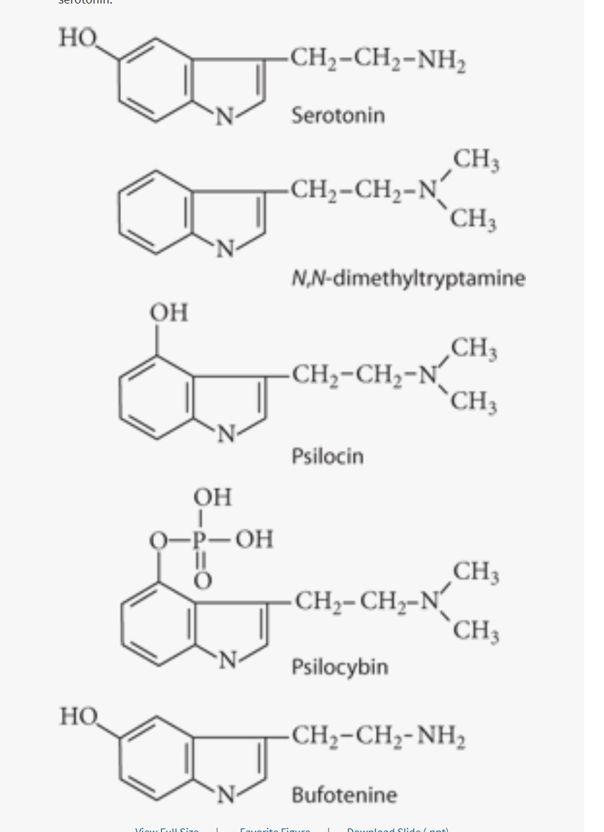 Hallucinogenic compounds all have similar chemical structure.