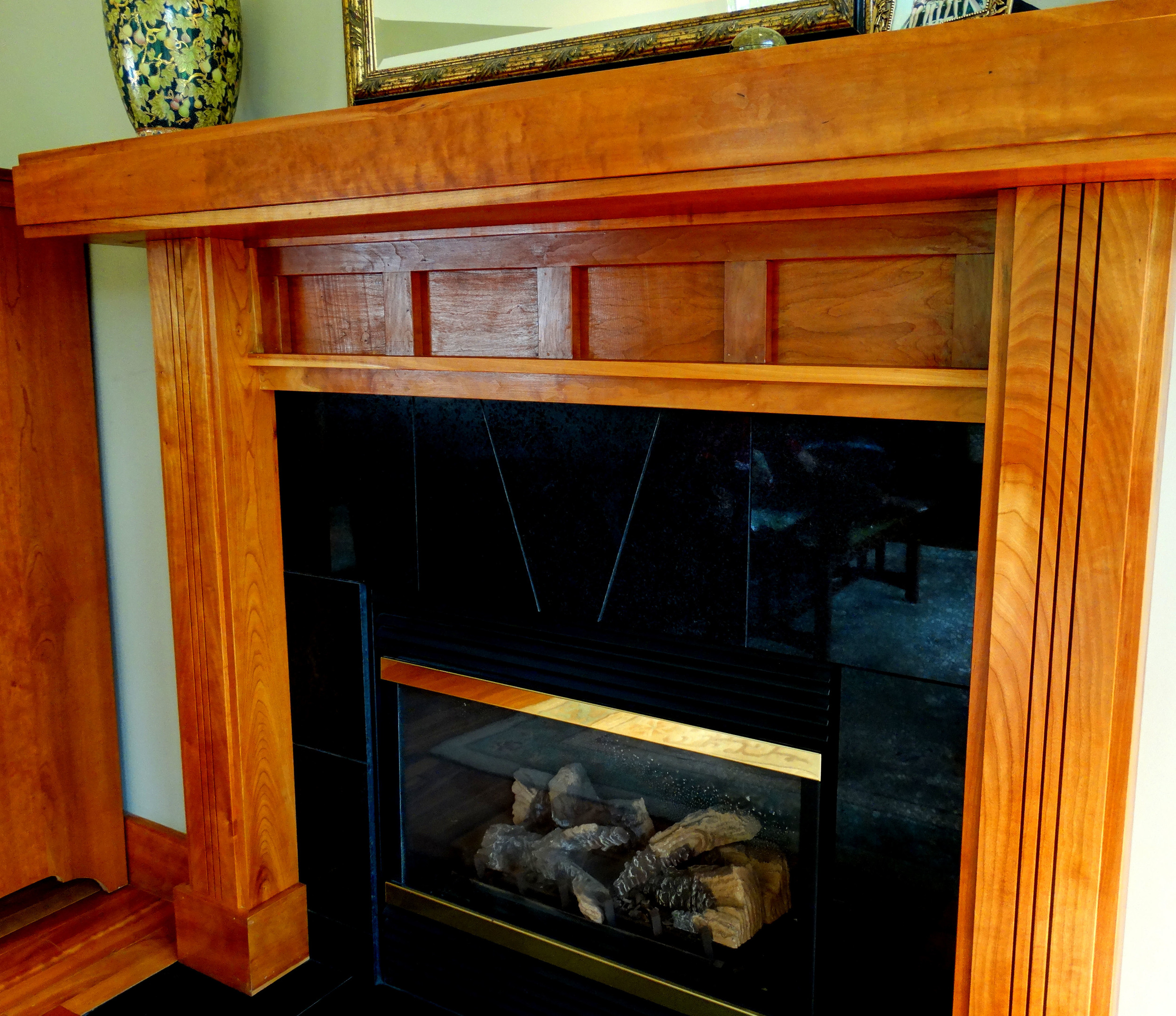 Statement fireplaces.