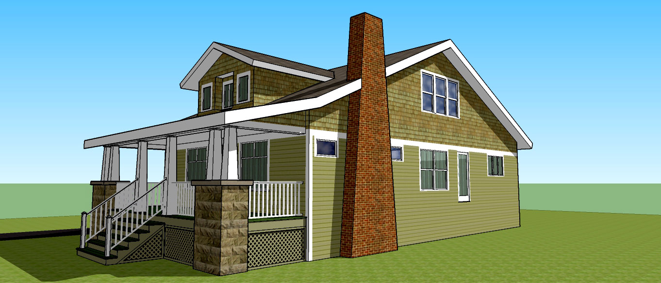 Step One:  A 3-D rendering of your exisiting home to scale.