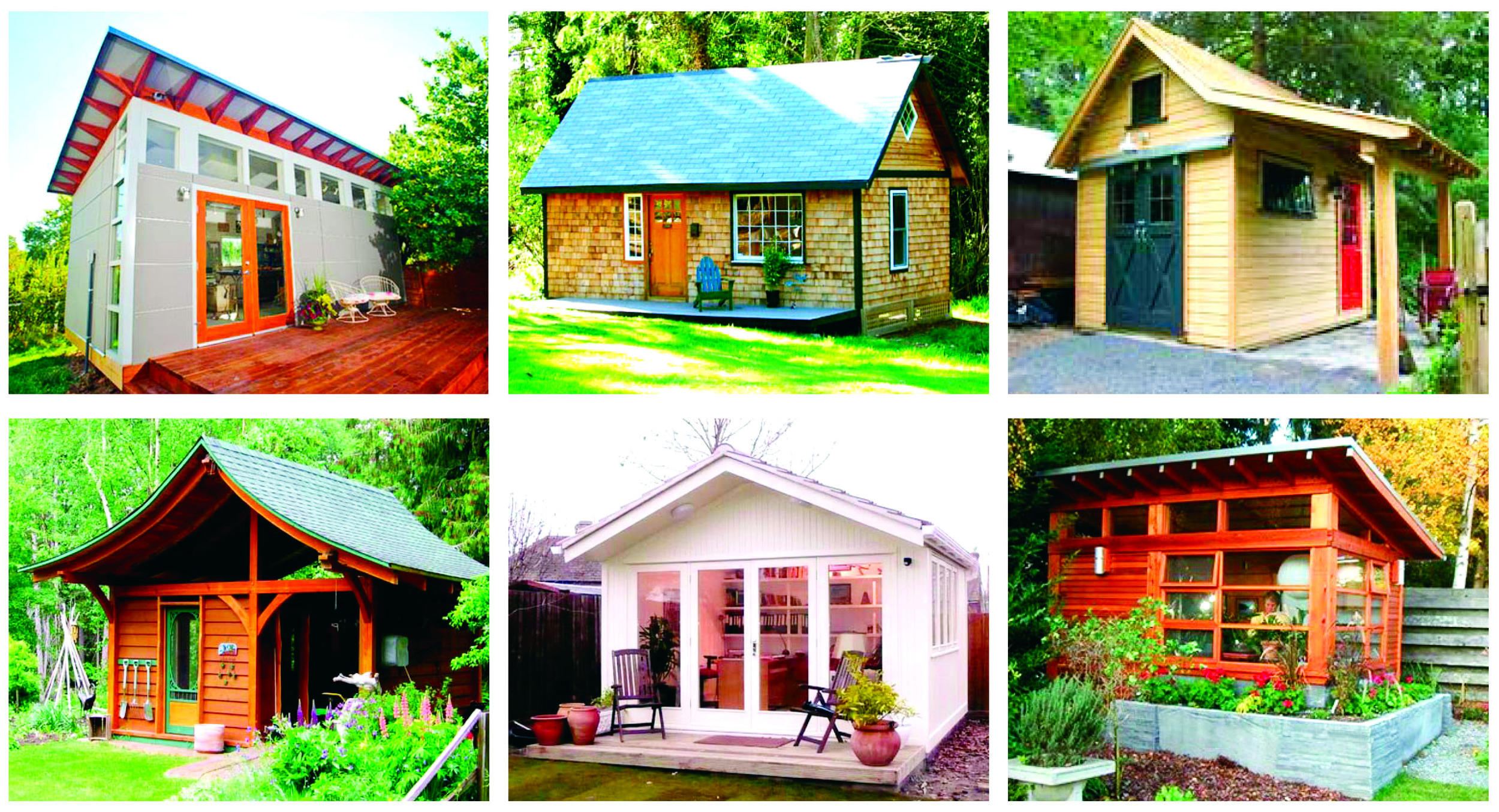Back Yard accessory structures add personality and function to your home life with additional space for your special talents, hobbies and creative endeavors. Pictured here just a few ideas of the various creative ways folks are making the most of their back yards.