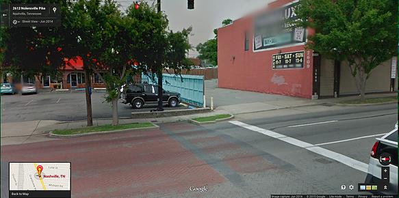 Site of Nolensville bus stop