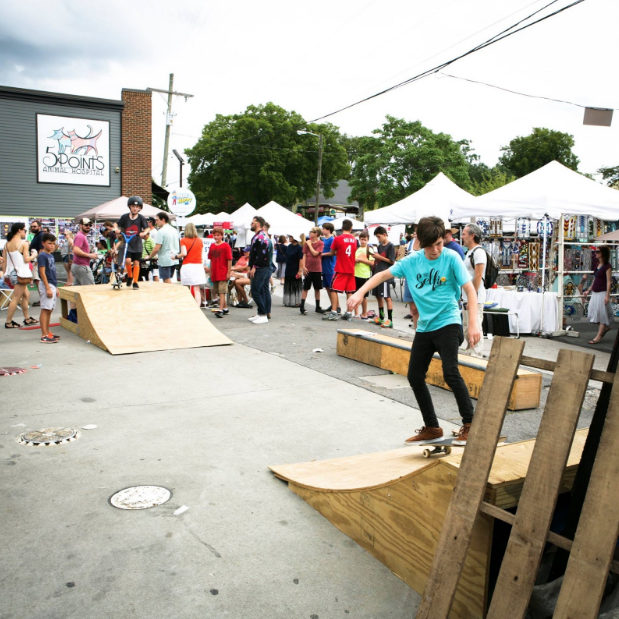 Skate ramp installed to TURBO's pop-up park