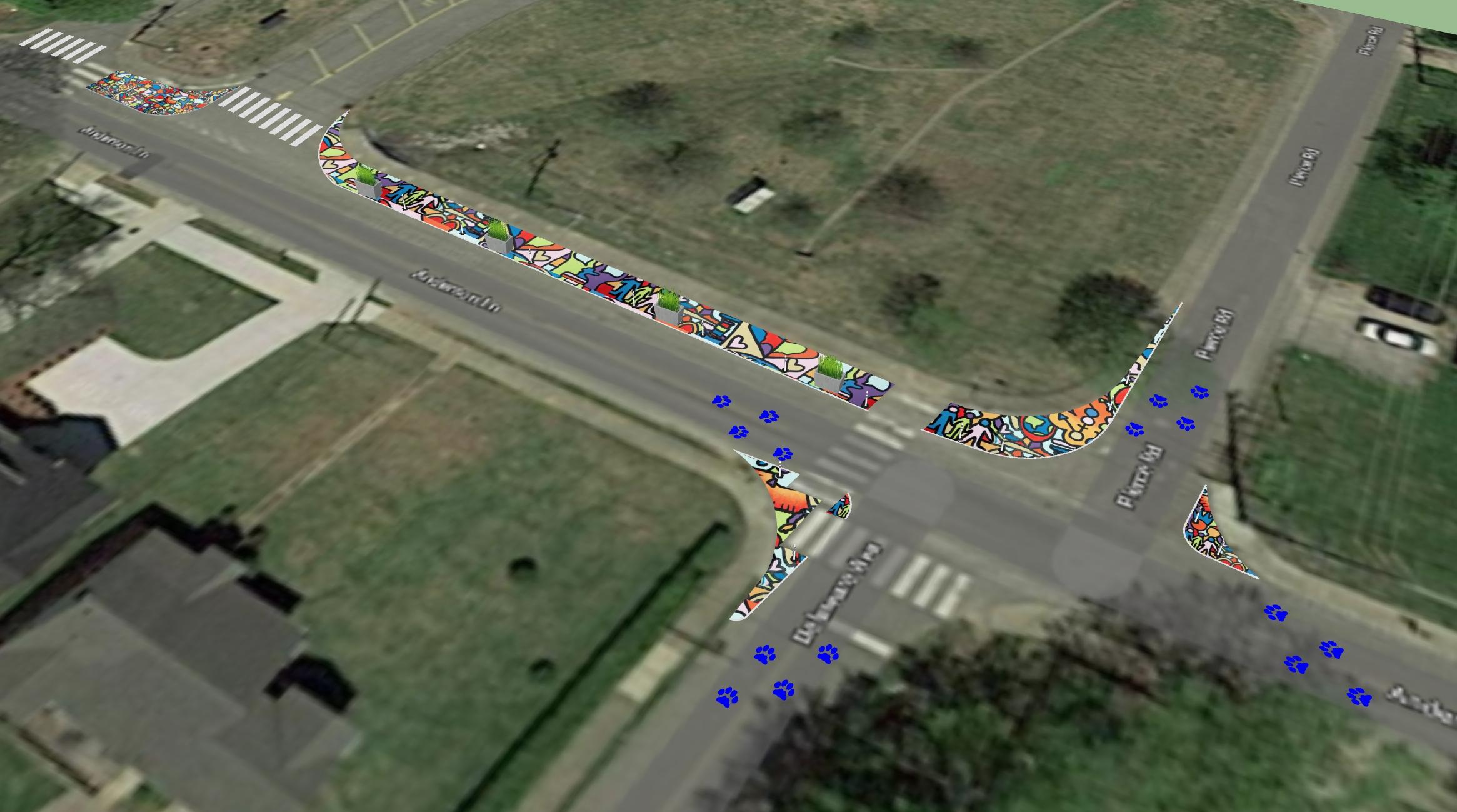 Amqui Traffic Calming Model Birds Eye.jpg