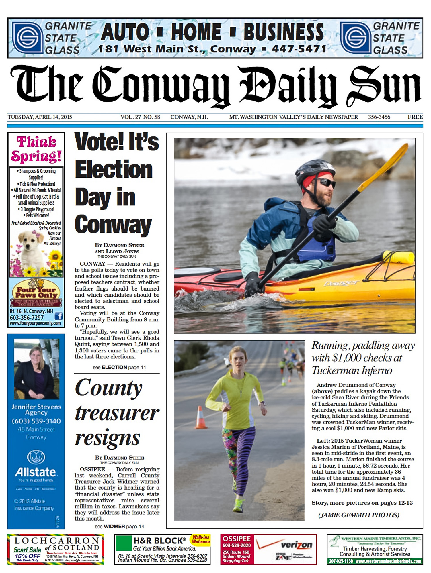 Conway Daily Sun Cover Shot, Finally!