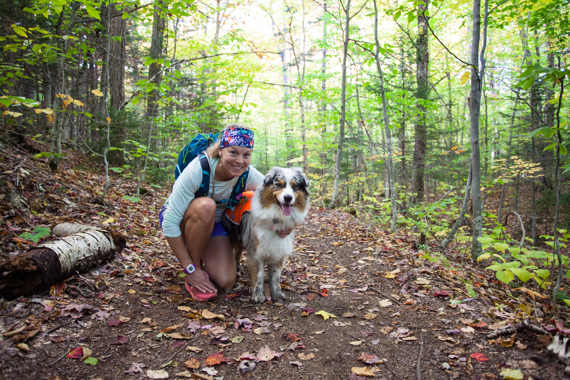 Hilary and Squall on the Signal Ridge Trail.