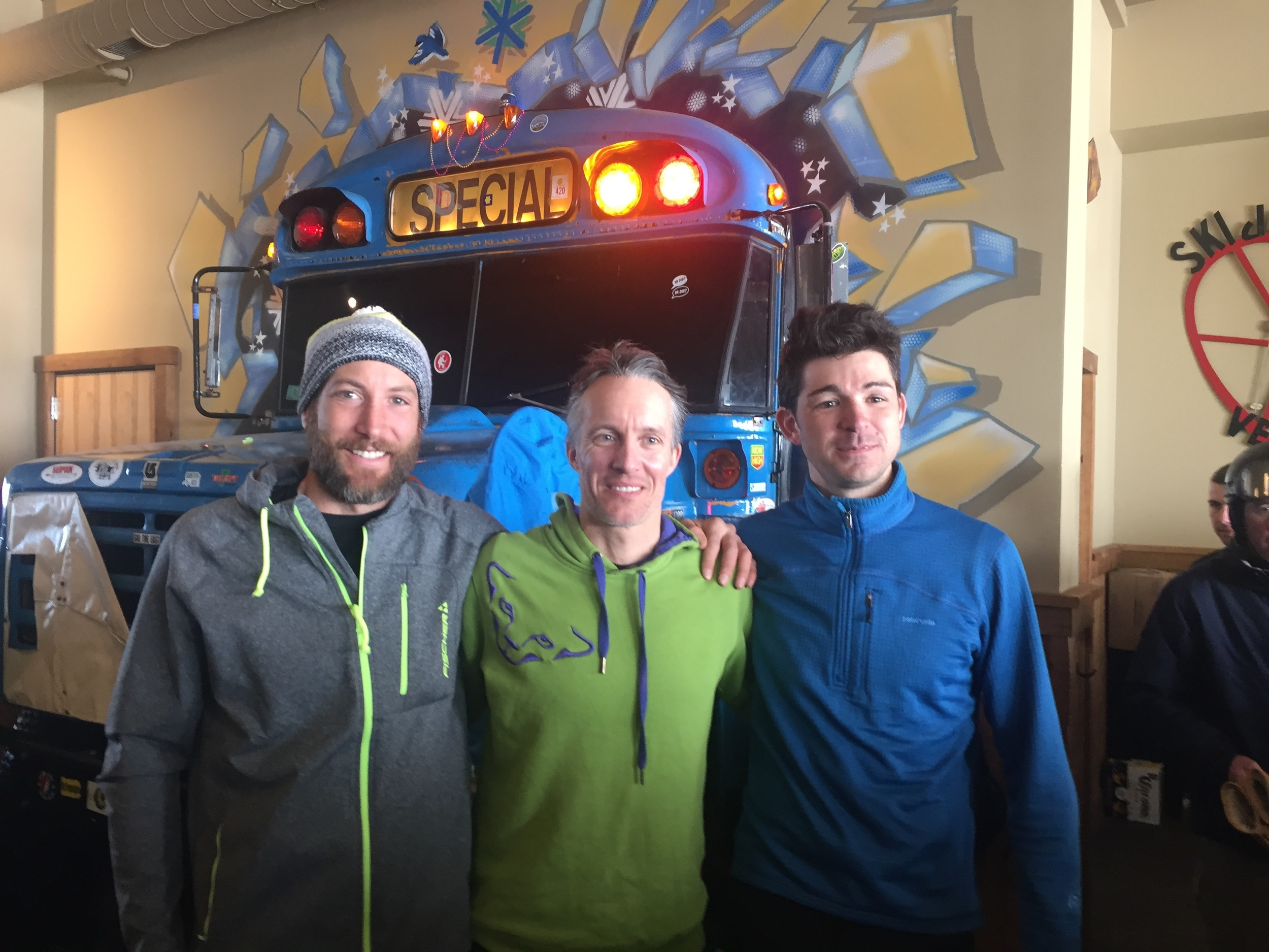 Jay Peak Skimo - Long Course Podium: 1st - George Visser, 2nd - Andrew Drummond, 3rd - Brian MacIlvain